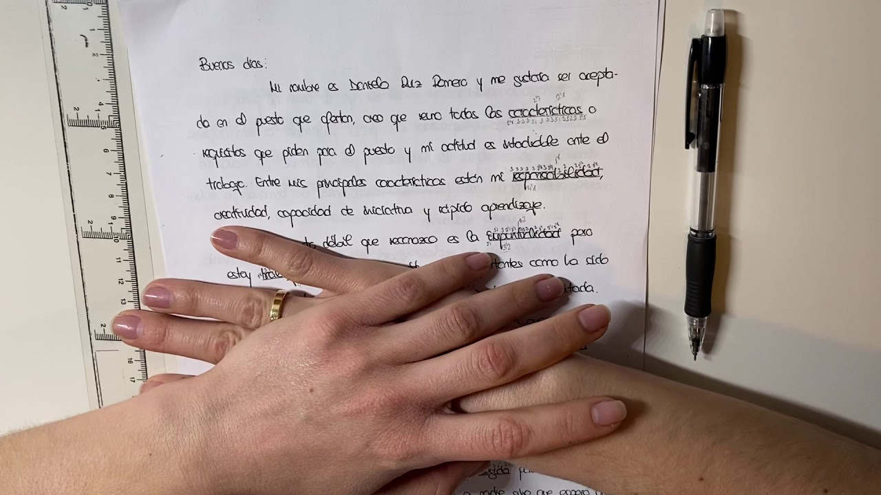 El cuerpo central del escrito.