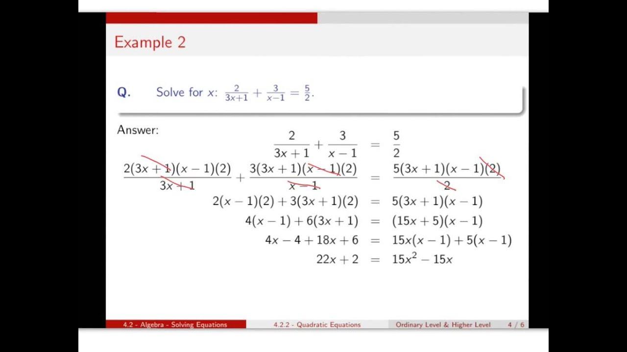 Solving Equations - Scoilnet