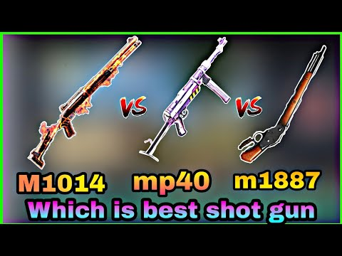 Mp40 Vs M1014 VS M1887 Which Is Best Shot Gun ?? World Top 3 Shotrange Players In Freefire