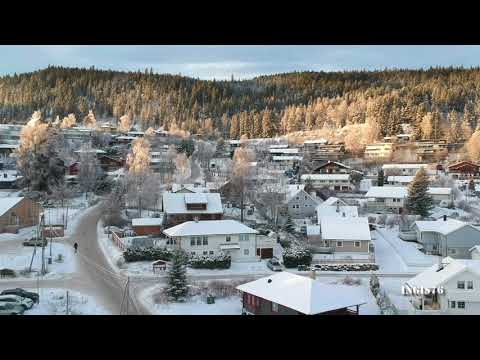 RC FLIGHT DJI SPARK OVER HAKADAL NORWAY A WINTER DAY
