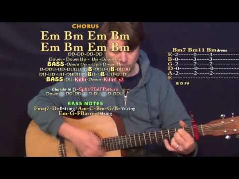 No Flockin (Kodak Black) Guitar Lesson Chord Chart - Capo 1st