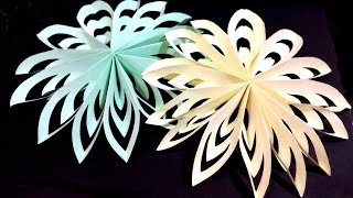 Christmas paper Snowflake - Very easy and rich. Table decor