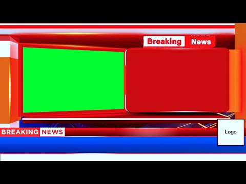 3D Animated Breaking News Bumper - Green Screen Video