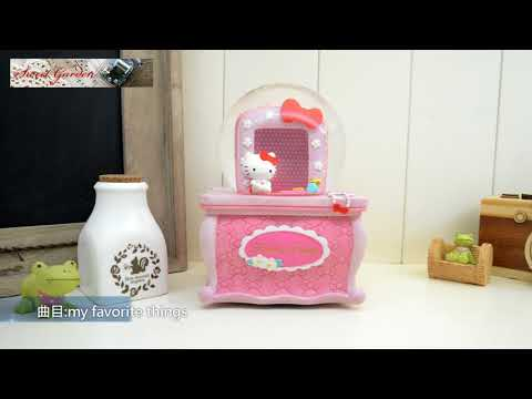 Sweet Garden, Hello Kitty 梳妝台相框音樂水晶球(免運) 裝飾女孩房間 可愛粉紅蝴蝶結