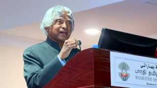 Dr. APJ Abdul Kalam speech in Tamil during his last overseas trip