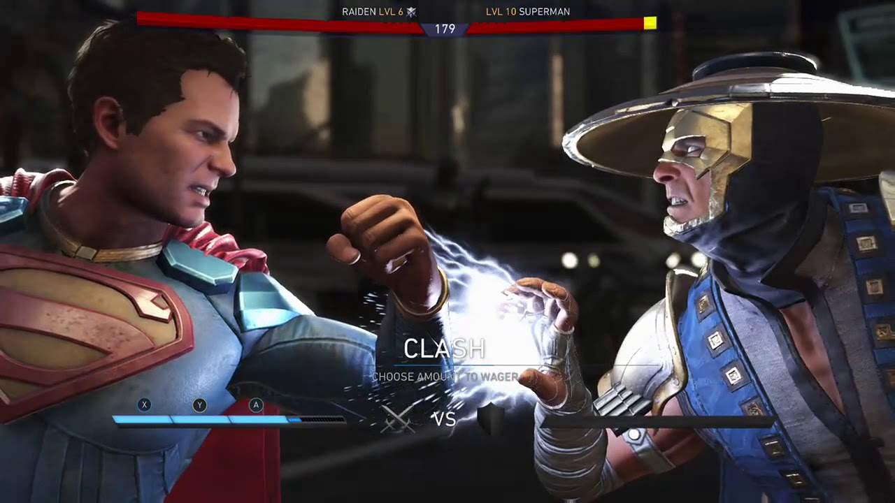 Injustice 2 Raiden vs Superman - YouTube