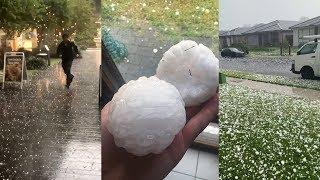 Huge hail stones battered Sydney (Dec 20, 2018)