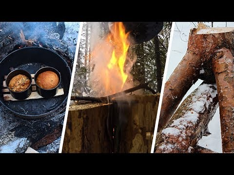 SUPER BUSHCRAFT TIPS - AMAZING BREAD IN CUPS, TURBO FIRE, WOOD FOR FIRE - NEW METHOD