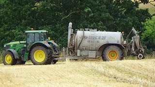 Slurry Injecting with John Deere & Joskin after harvest
