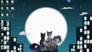 Анимированные обои. Звездные коты