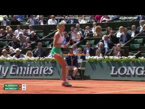 Mladenovic - Bachinski best moments of the match 1\4 Roland Garros