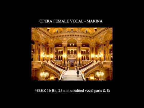 Opera classic female vocal by Marina sample library by best sample library demo