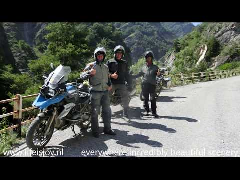 Vallone del Viandante - Valley of the hiker beautiful SP104 road on BMW R1200GS motorbikes