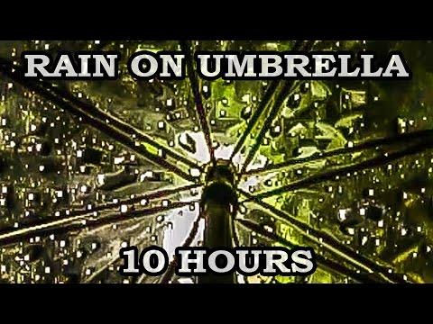 Relaxing rain sound under umbrella - 10 hours video