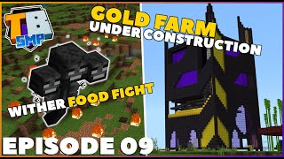 1.16 GOLD FARM Under Construction + WITHER Food Fight! | Truly Bedrock S2E9