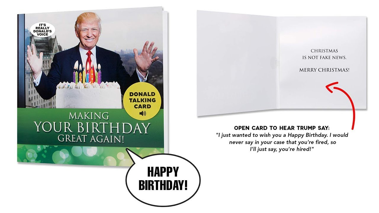 Funny Birthday Cards Get A Personal Birthday Greeting From Donald