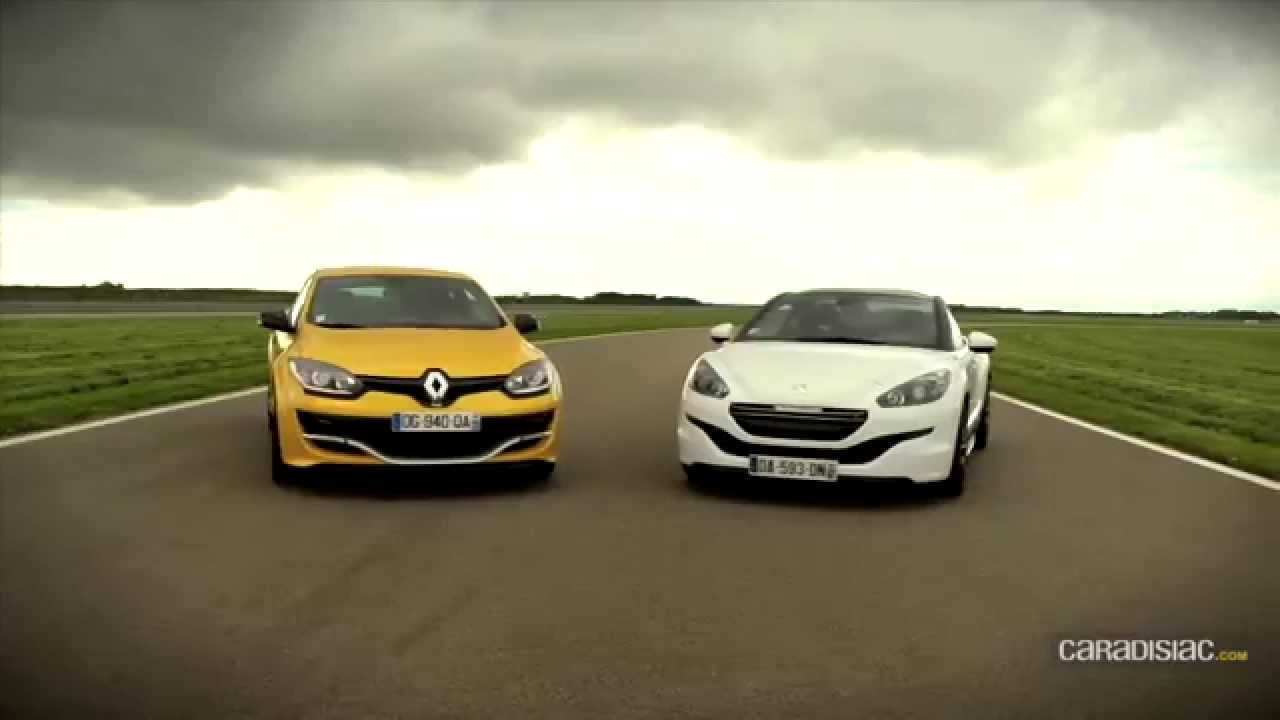 renault megane rs275 trophy vs peugeot rcz r youtube. Black Bedroom Furniture Sets. Home Design Ideas