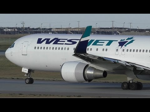 INAUGURAL TO LONDON - WestJet 767-338ER [C-FOGJ] Takeoff from Calgary Airport ᴴᴰ