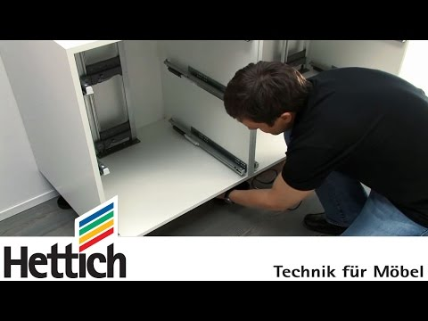 Easys by Hettich: assembly inside a drawer cabinet
