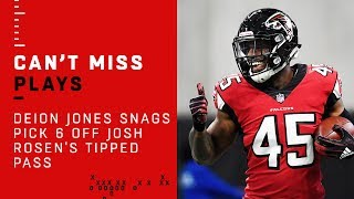 Falcons LB Deion Jones Snags Pick 6 Off Josh Rosen's Tipped Pass