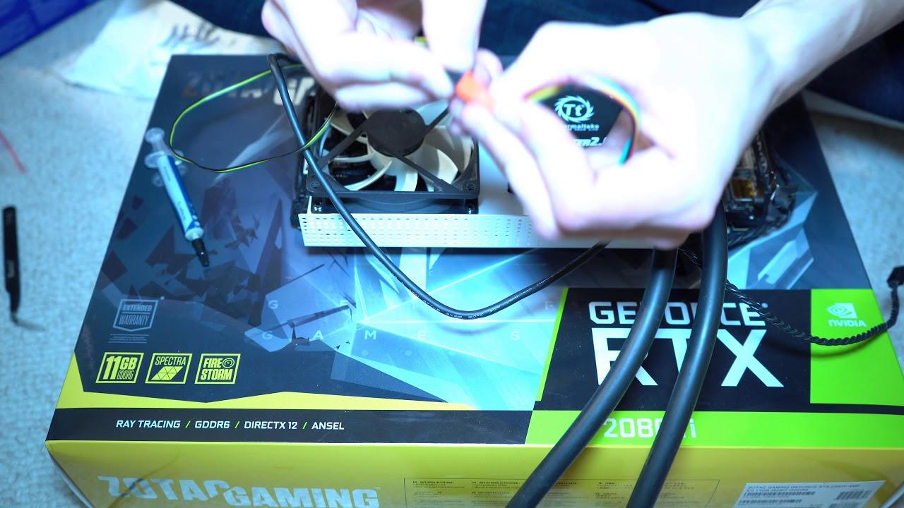 Zotac Rtx 2080 Ti Liquid Cooling Mod Youtube