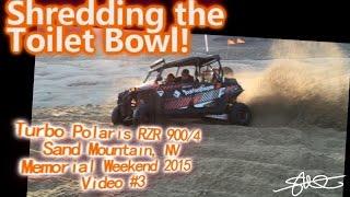 Shredding the Toilet Bowl at Sand Mountain - Turbo Polaris 900 xp4