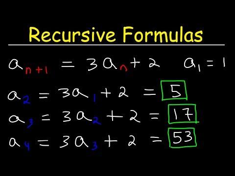 Recursive Formulas For Sequences