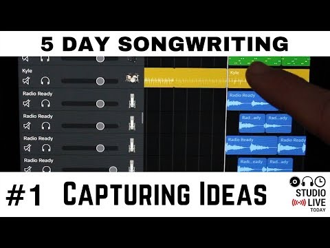 5 Day Songwriting - Capturing ideas in Music Memos and GarageBand iOS