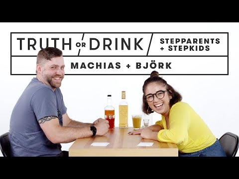 Stepparents & Stepkids Play Truth or Drink (Machias & Bjork) | Truth or Drink | Cut