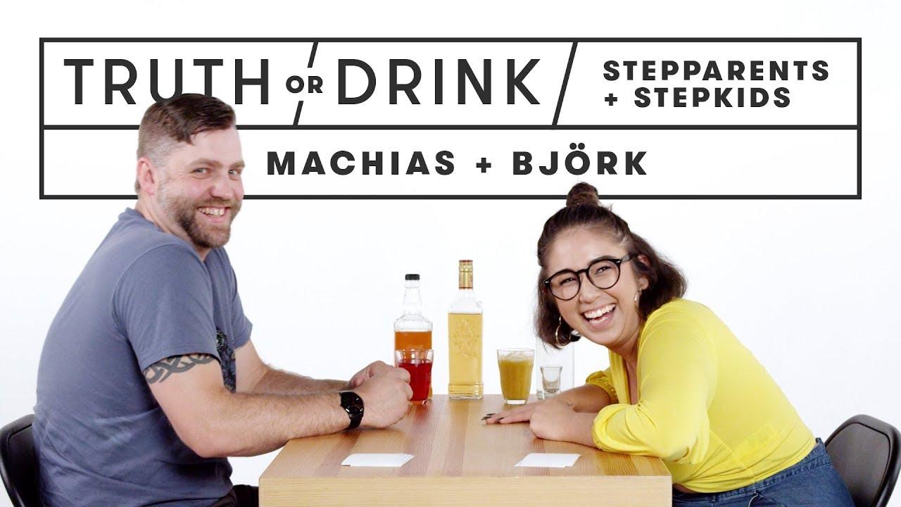 Stepparents & Stepkids Play Truth or Drink (Machias & Bjork) | Truth or Drink | Cut