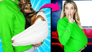 5 Ways to Sneak our Dogs into the Movies Challenge! PawZam Dogs