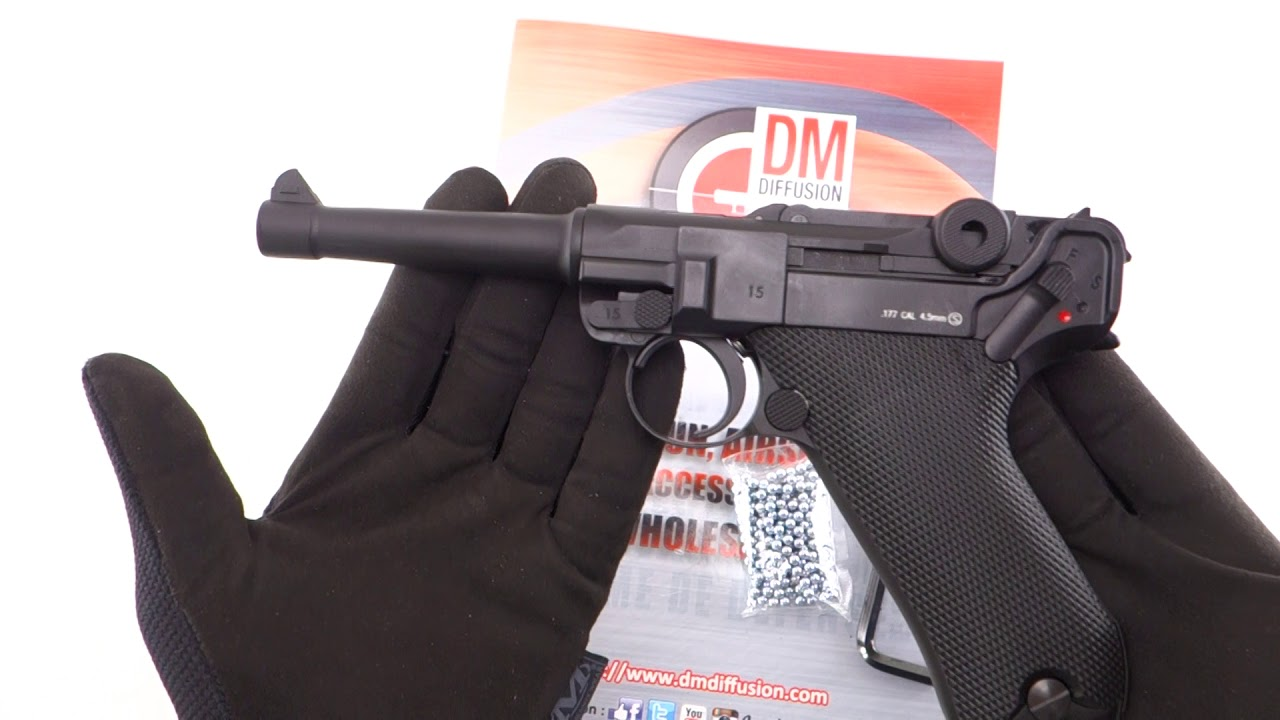 Aoshima Bunka Kyozai BB action gun No.06 Ruger P.08