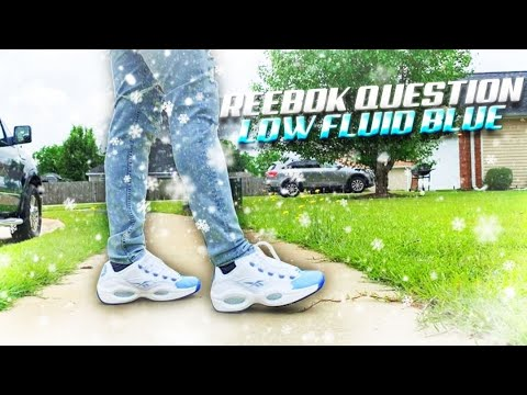 Reebok Question Low Fluid Blue Early Review On Foot Sneaker Of The Summer Youtube