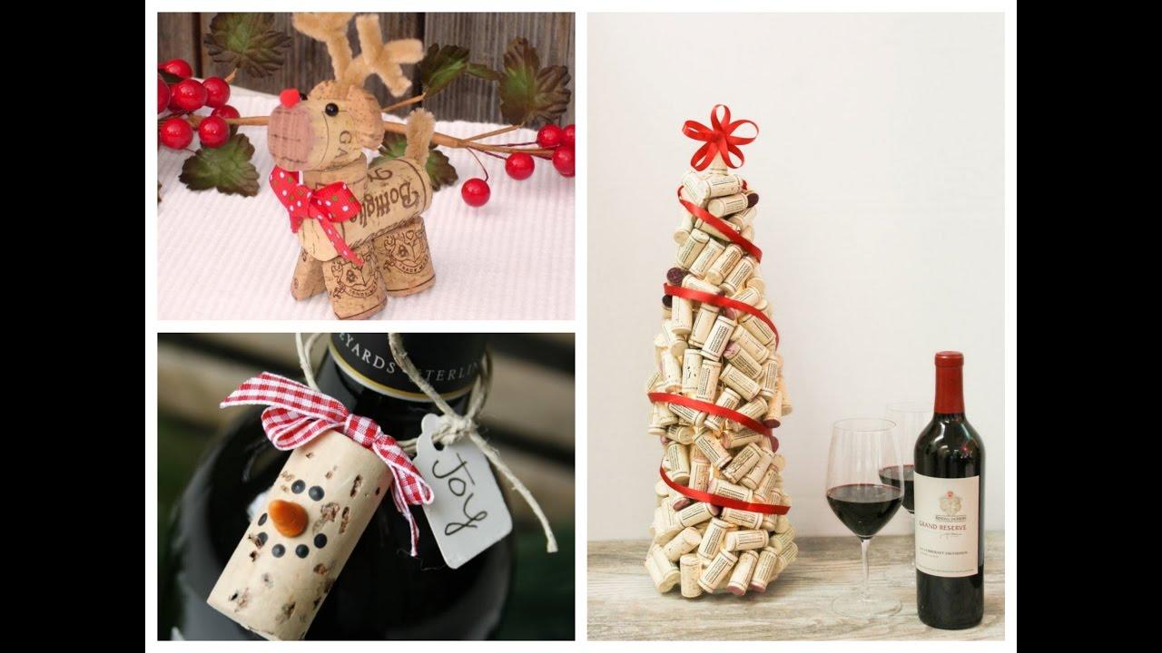 diy wine cork christmas crafts ideas