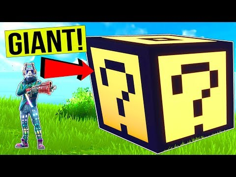NEW *GIANT* LUCKY BLOCK CHALLENGE! - Game Mode in Fortnite Battle Royale