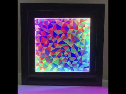 LED Geode Art (version 2) with Color-Shifting LED Frame