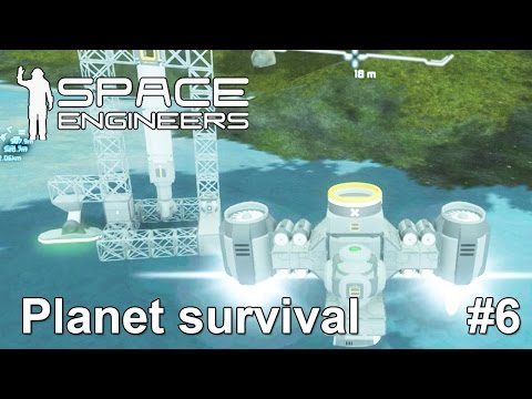 Space engineers: Mobile Drilling Platform. Can our ship lift it?