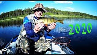 Рыбалка с НОЧЕВКОЙ в лодке на озере ИЮНЬ 2020г