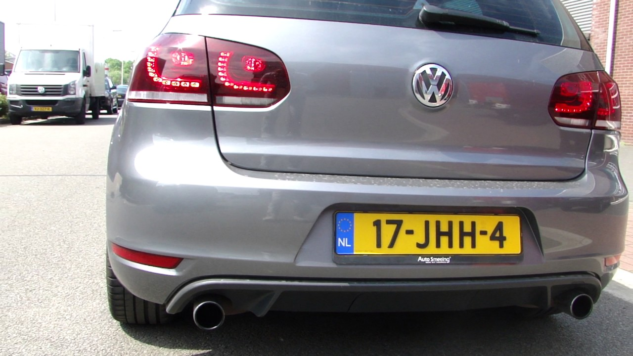 vw golf 6 gti cut out exhaust sound system sportuitlaat. Black Bedroom Furniture Sets. Home Design Ideas