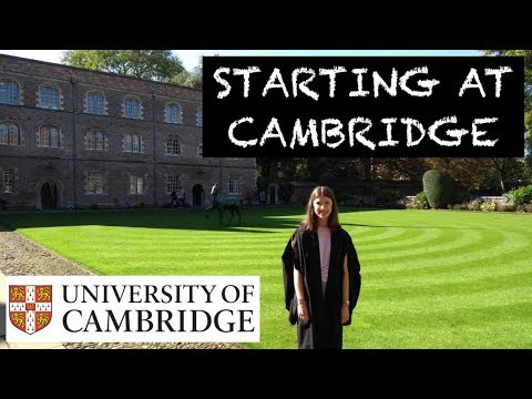MY FIRST WEEK AT CAMBRIDGE UNI
