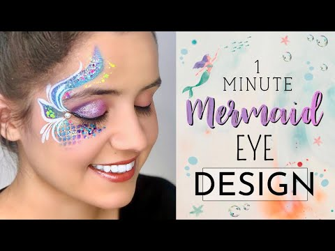 60 SECOND Mermaid Eye Design Face Paint