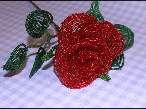 Роза из бисера мастер класс с пошаговым фото и схема