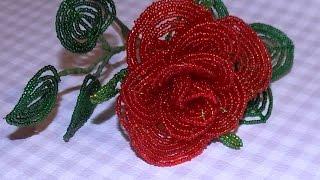 Роза из бисера. Мастер-класс / Beaded rose(Мастер-класс плетения розы из бисера. В этом видео-уроке Вы увидите как плести лепестки розы из бисера,..., 2015-11-10T15:23:55.000Z)