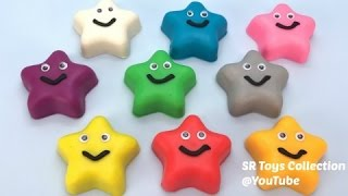 Play Doh Stars Fun Learn Colors Ice Cream Pooh Molds Nursery Rhymes Paw Patrol Smurfs Peppa Pig Toys