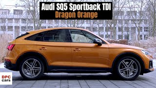 2021 Audi SQ5 Sportback TDI Quattro in Dragon Orange