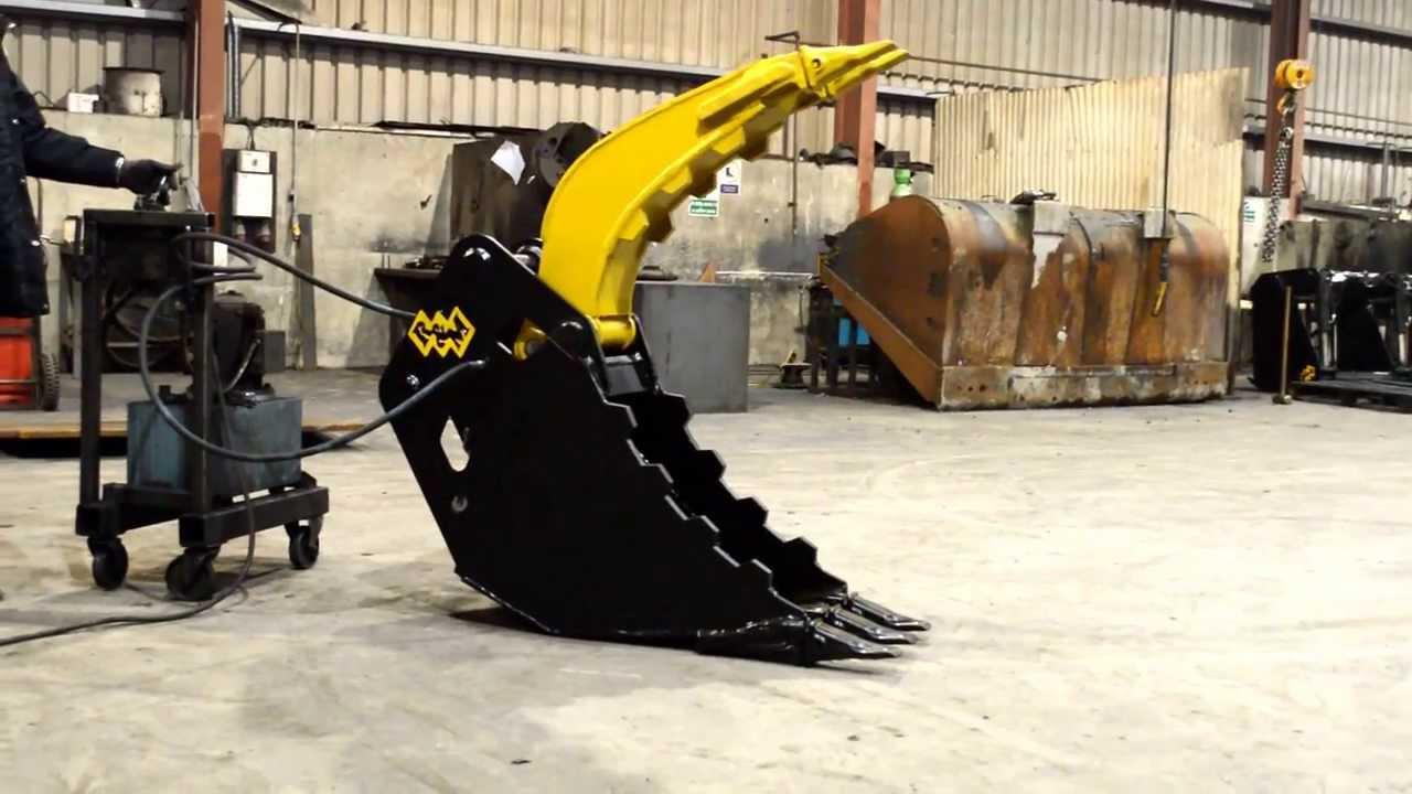 Excavator Grab Bucket Hd Youtube