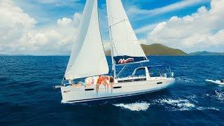 BVI Sailing Vacation - Moorings 42.3 - Luff Out Loud Drone DJI