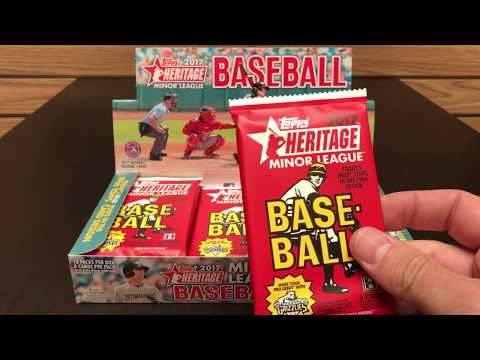 PACK PREVIEW!! 2017 Topps Heritage Minor League