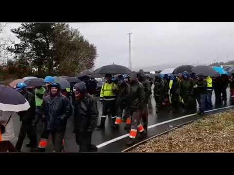 Última concentración del año de los trabajadores de las auxiliares de Endesa