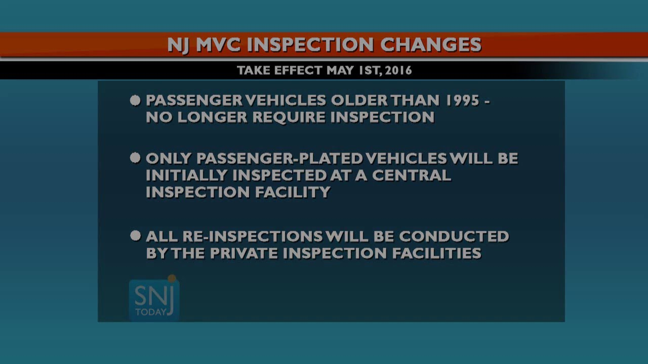 Nj Vehicle Inspection >> Changes Are Coming To New Jersey S Motor Vehicle Inspections Youtube